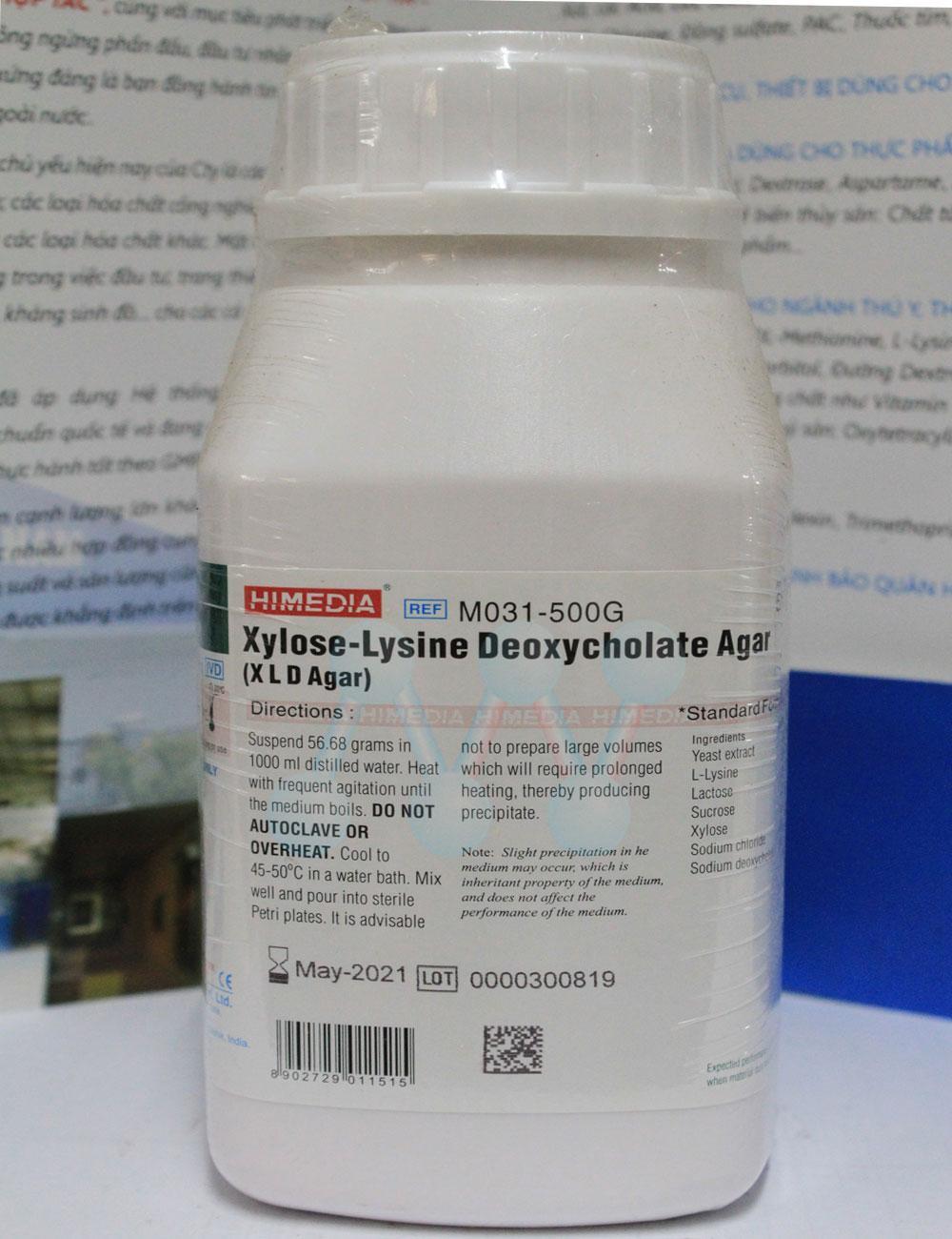 Xylose Lysine Deoxycholate XLD Agar