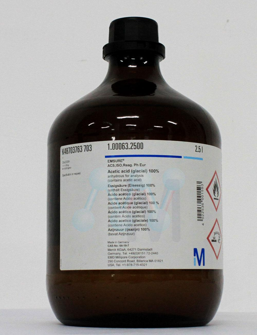 Acid Acetic glacial  CH3COOH 100%