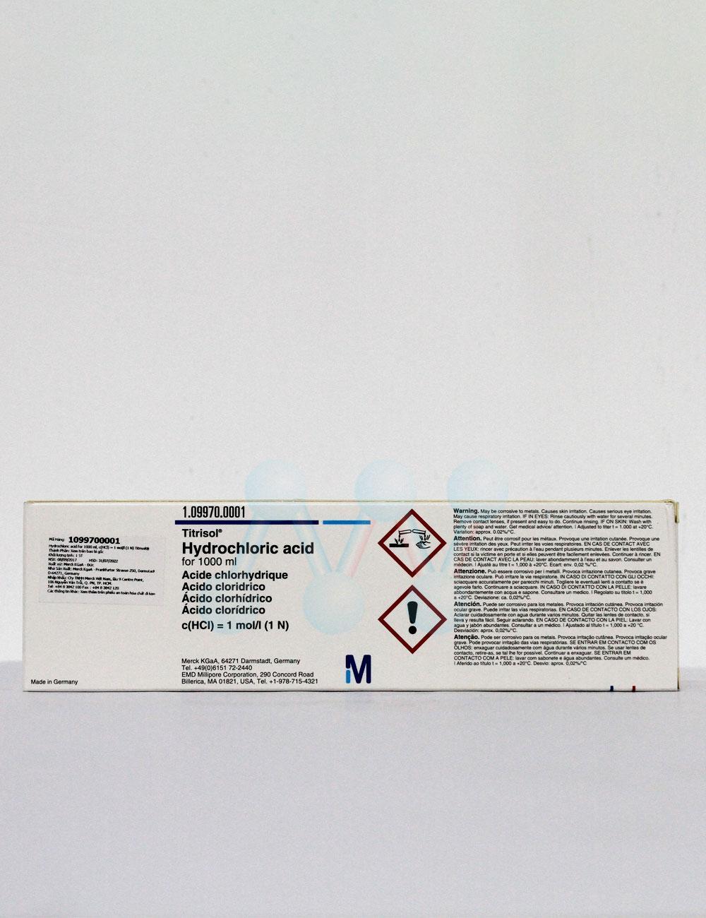 Ống chuẩn Acid Hydrochloric 0.5N