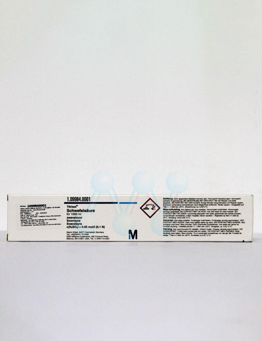 Ống chuẩn Acid Sulfuric H2SO4 0.1N (0.05M)